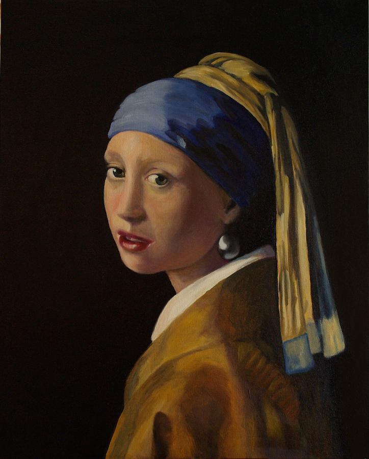 Girl With Pearl Earring Painting by L Antram