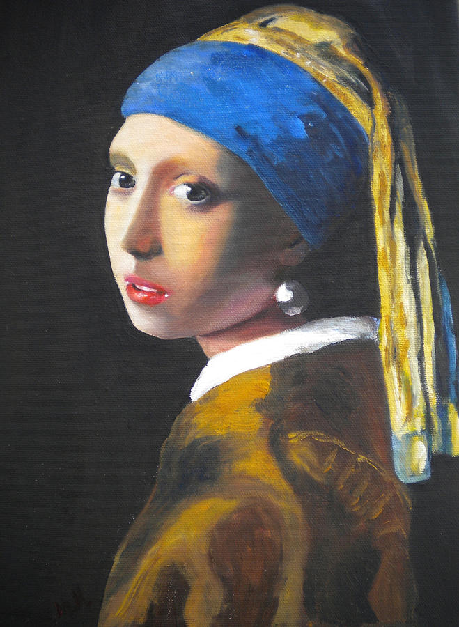 Girl With Pearl Earring Painting by Marc Mancuso
