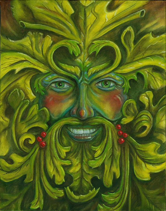New York Iphone Wallpaper Green Man Painting By Billy Leslie