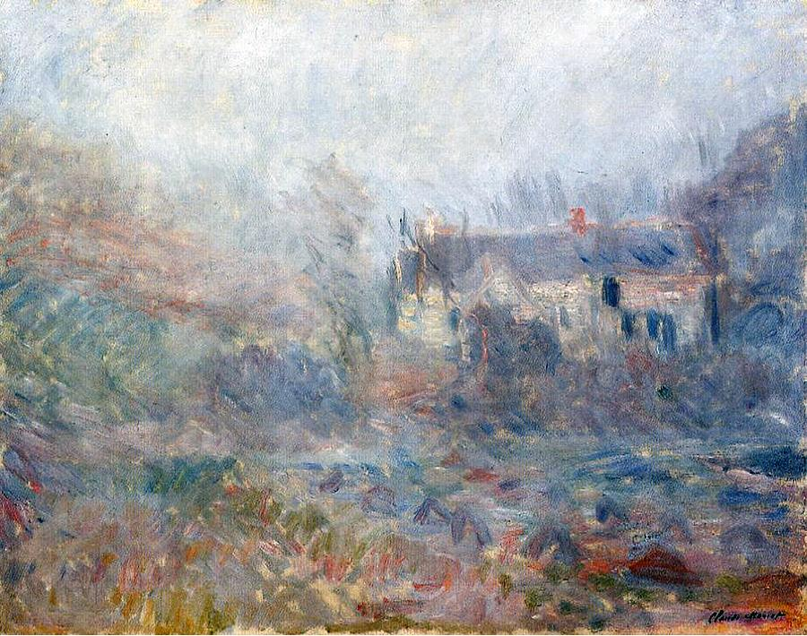House At Falaise Painting by Claude Monet