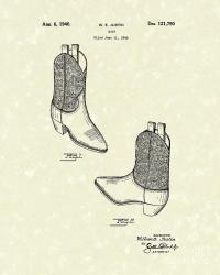 Justin Boot 1940 Patent Art Drawing by Prior Art Design