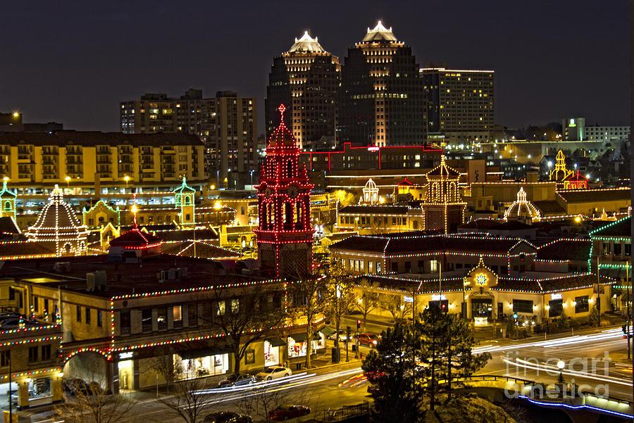 Kansas City Plaza At Christmas Photograph By Carolyn Fox