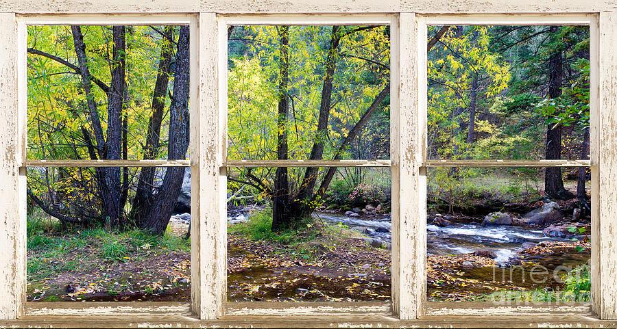 Fall Wallpaper Ipad Left Hand Creek Rustic Window View Colorado Photograph By