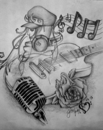 Muzic Drawing by Juilee Patil