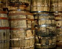 Old Wood Whiskey Barrels by Terry Fleckney