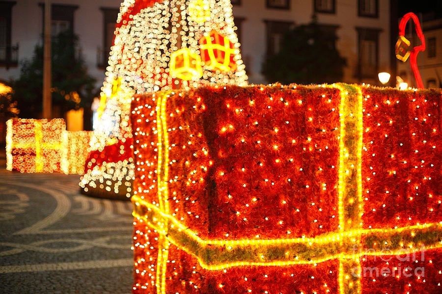 Outdoor Christmas Decorations Photograph by Gaspar Avila - large christmas decorations