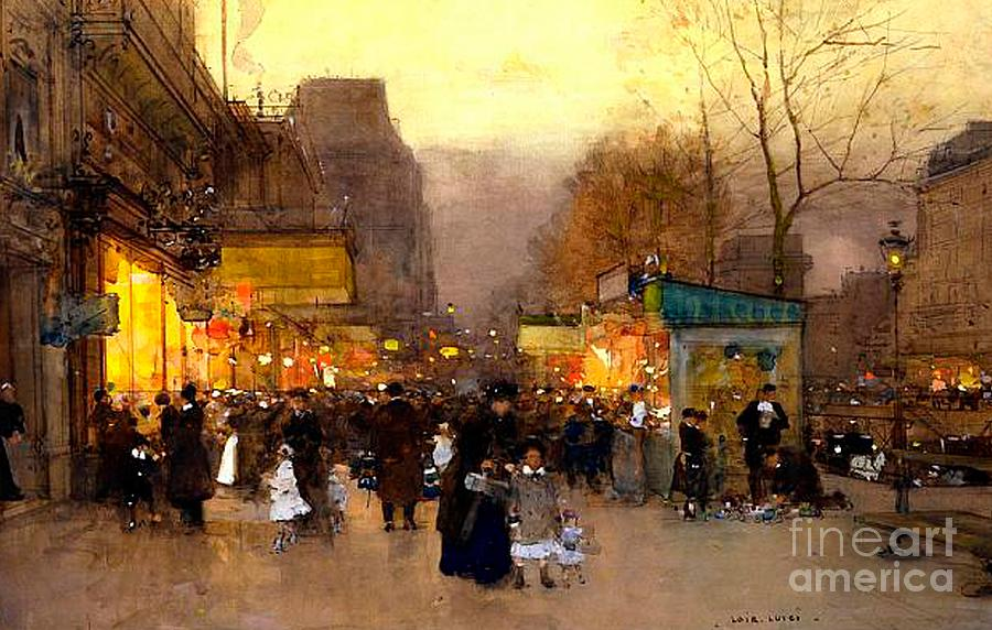Once Upon A Time Wallpaper Iphone Porte St Martin At Christmas Time In Paris Painting By