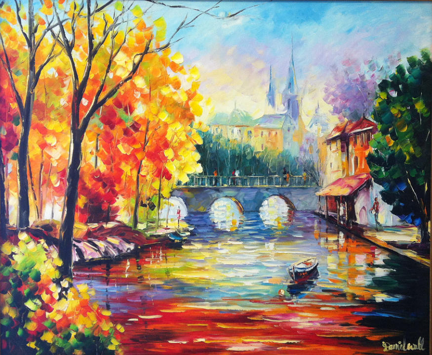 Dimensions Of A Wallpaper For Iphone X Small French Village Painting By Daniel Wall