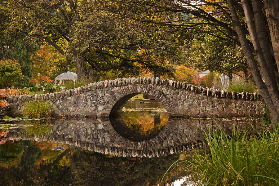 Maine Fall Wallpaper Stone Bridge Reflection Photograph By Graeme Knox