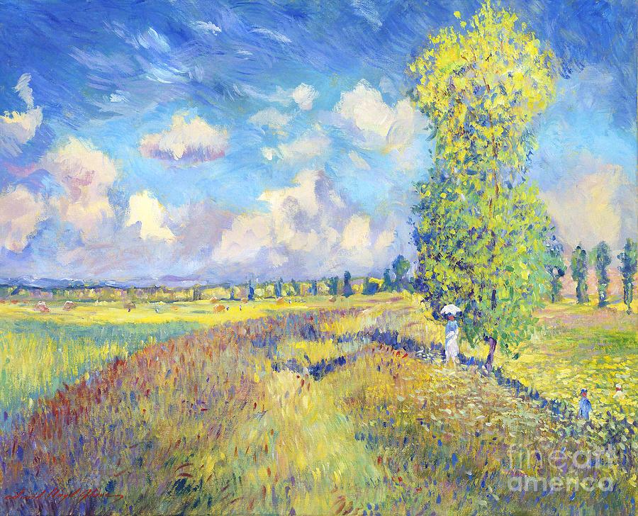 Monet Iphone Wallpaper Summer Poppy Fields Sur Les Traces De Monet Painting By