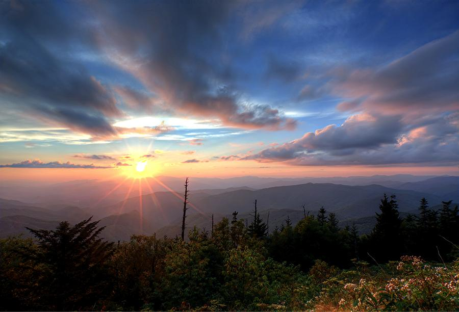 Smoky Mountains Iphone Wallpaper Sunset Great Smoky Mountains National Park Photograph By