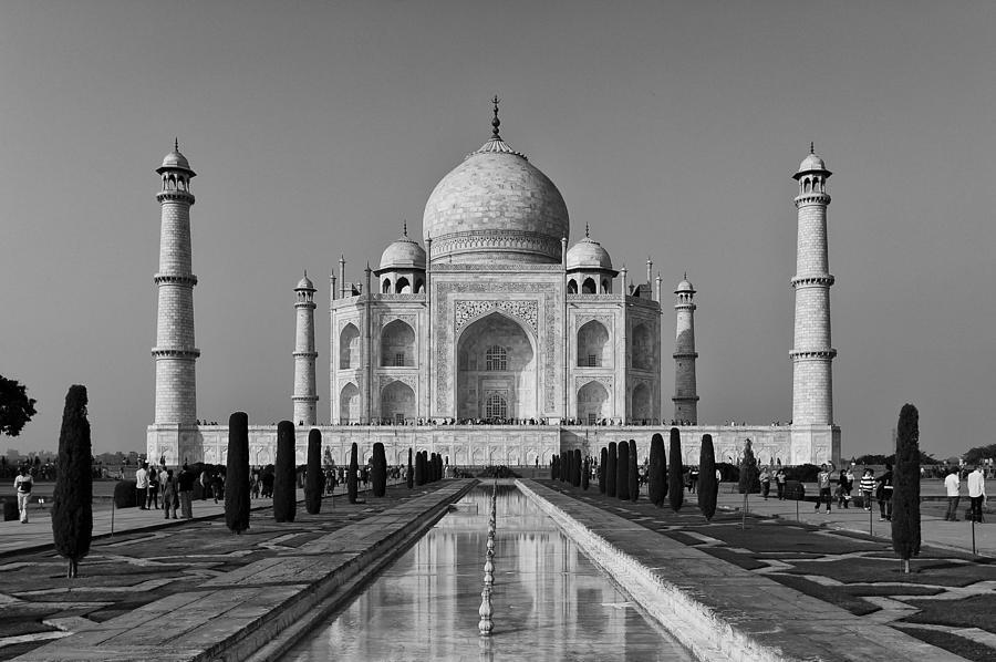 John Wall Iphone Wallpaper Taj Mahal Classic View Photograph By John Reckleff