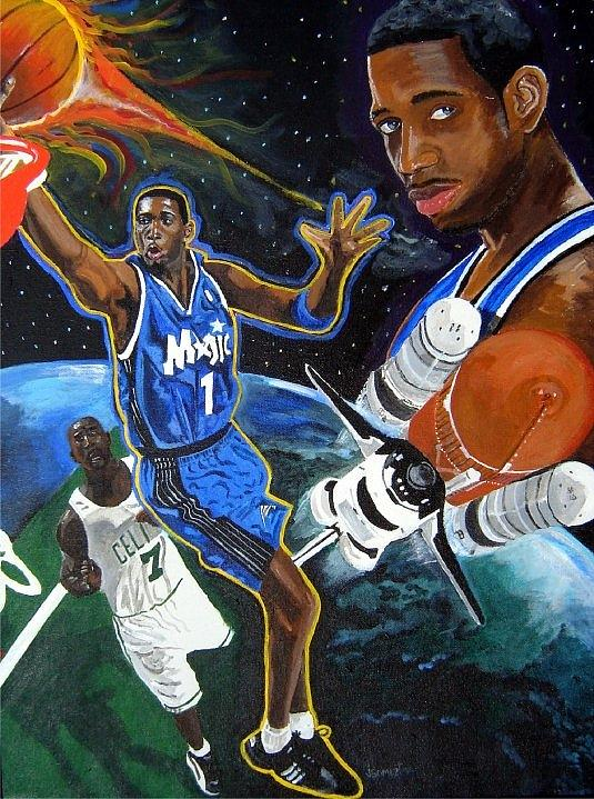 Animated Nba Wallpapers Tracy Mcgrady Painting By Jeff Gomez