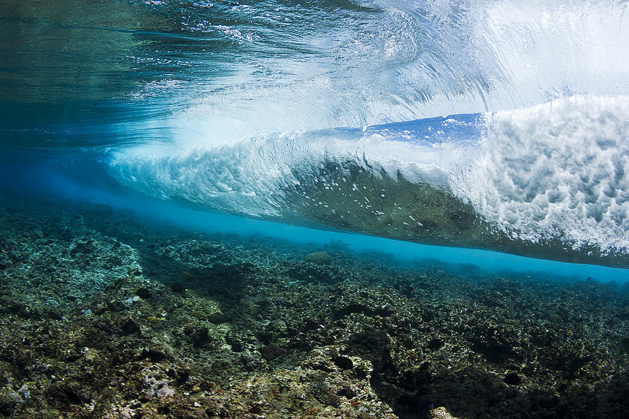 Canvas Hi Beautiful 3d Wallpaper Underwater Wave Photograph By Dave Fleetham