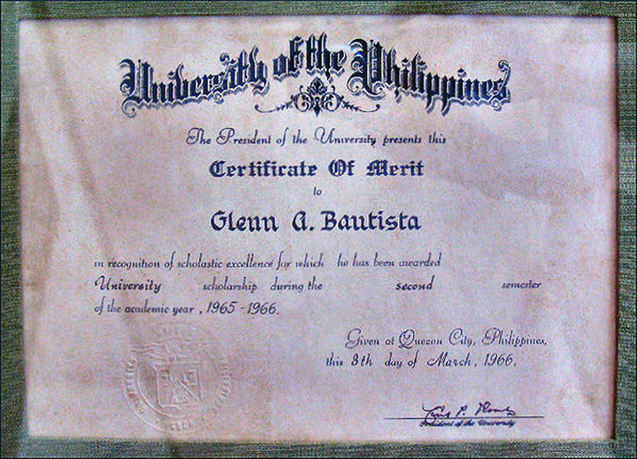 Up Certificate Of Merit 1966 Photograph by Glenn Bautista - merit certificate comments