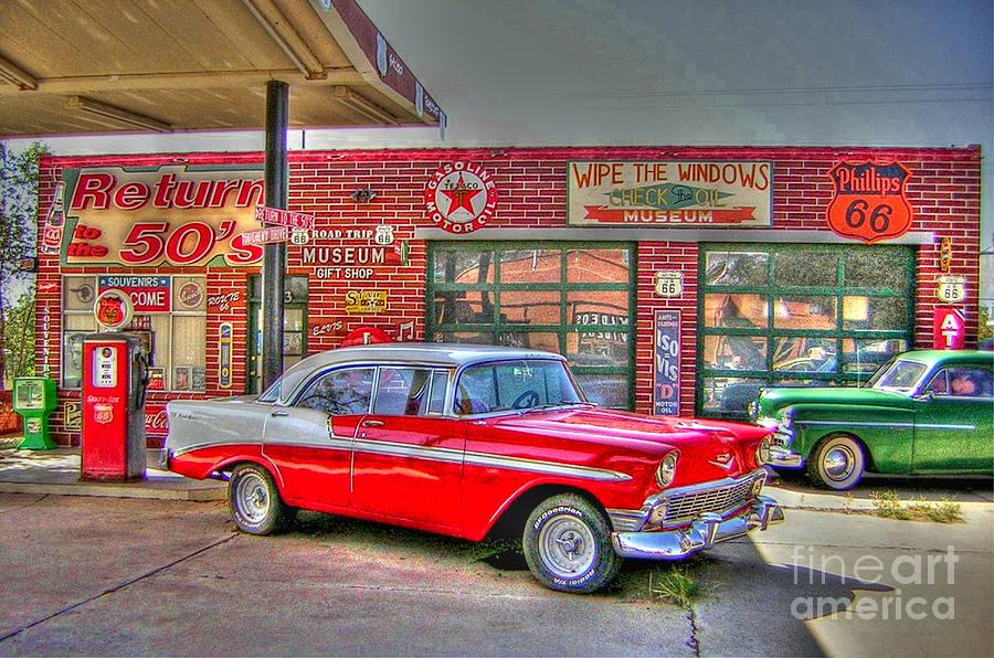 Classic Car Wallpaper Murals Vintage 50 S Route 66 By Tommy Anderson