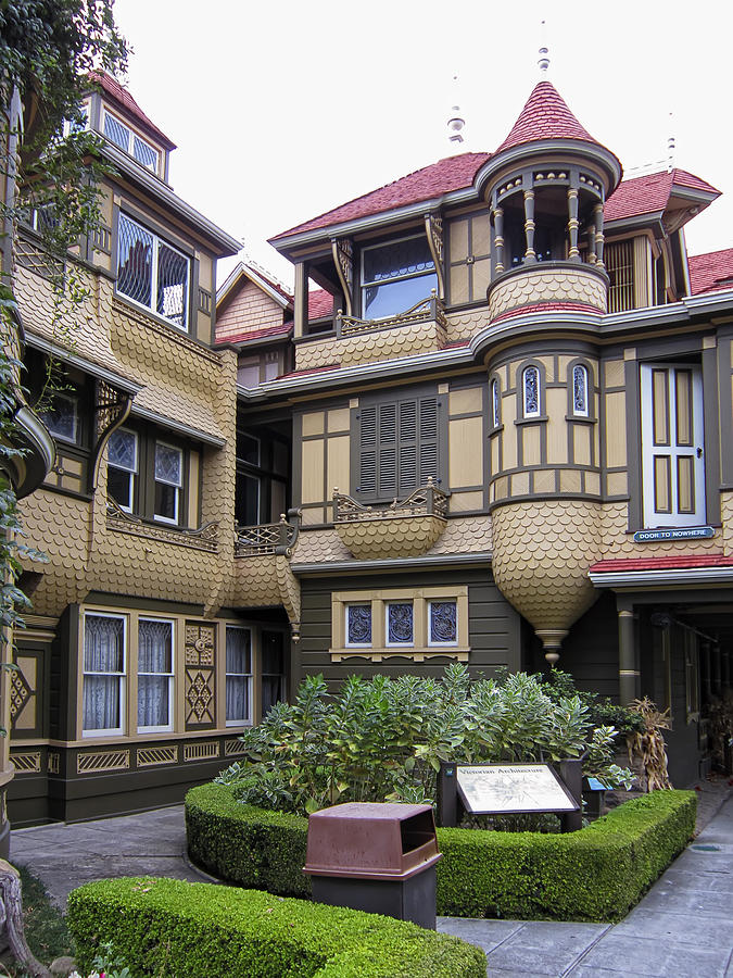 Haunted Mansion Iphone Wallpaper Winchester House Door To Nowhere Photograph By Daniel