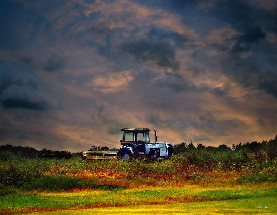 Iphone Built In Wallpapers Wisconsin Landscape White Tractor Photograph By Ms Judi