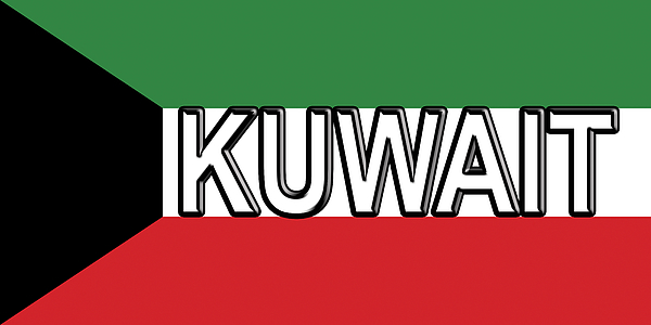 Flag Of Kuwait Word Beach Sheet for Sale by Roy Pedersen