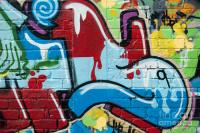 Abstract Spray-paint On The Brick Wall Painting by Yurix ...