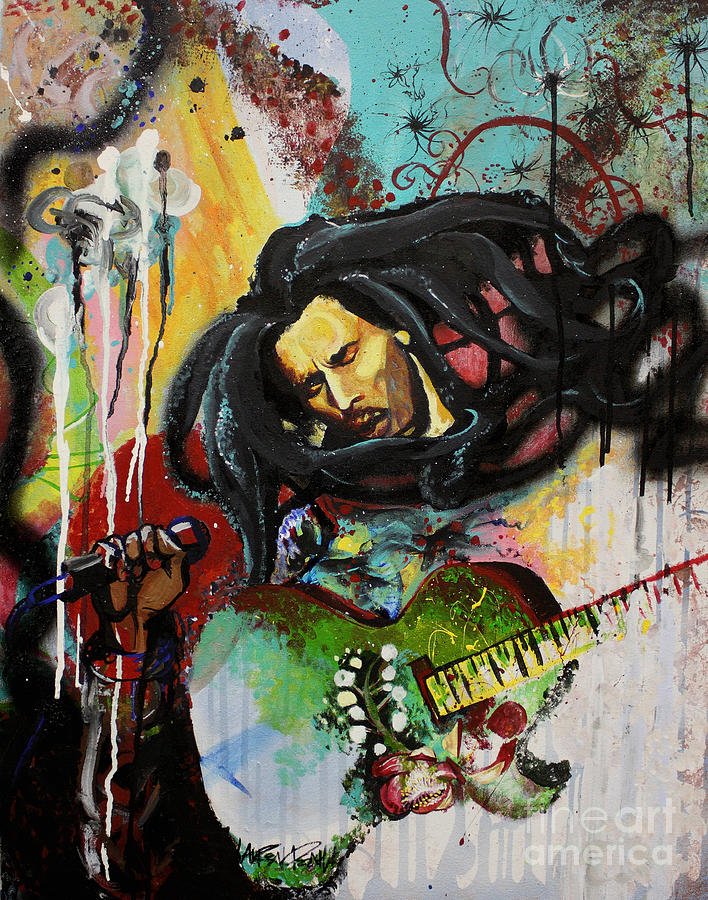 Famous Paintings Wallpaper Iphone Bob Marley Painting By Lauren Penha