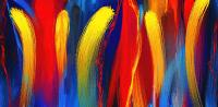 Be Bold - Primary Colors Abstract Art Painting by Lourry ...