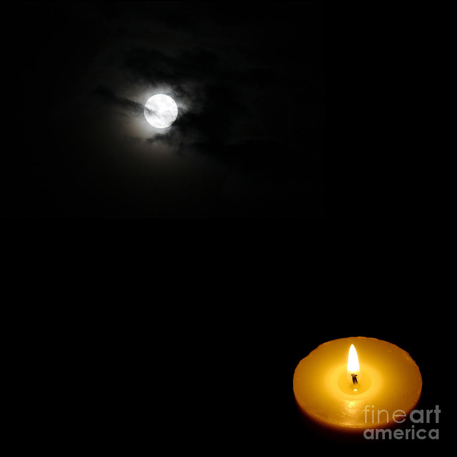 Candle Light Painting Candle Light Vs Moon Light By Celestial Images