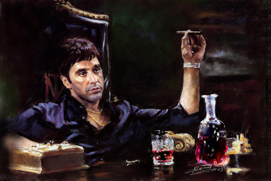 The Sopranos Iphone Wallpaper Scarface Pastel By Ylli Haruni