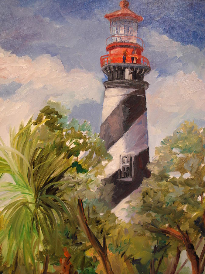 Baby Travel System Sale St Augustine Lighthouse Painting By Marilyn Masters