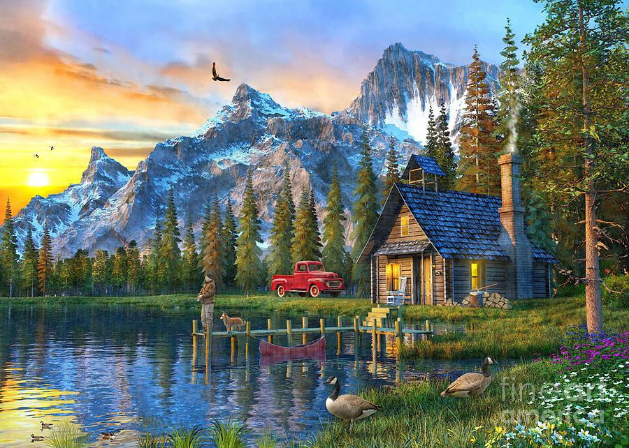 Colorado Fall Desktop Wallpaper Sunset At Log Cabin Digital Art By Dominic Davison