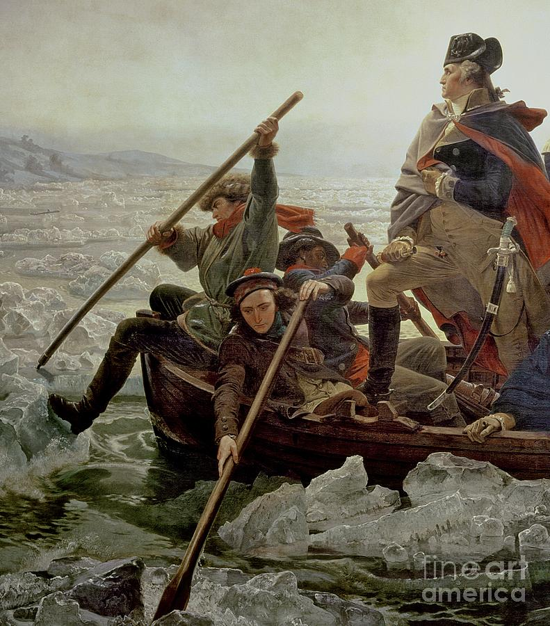 Washington Crossing The Delaware River Painting by Emanuel