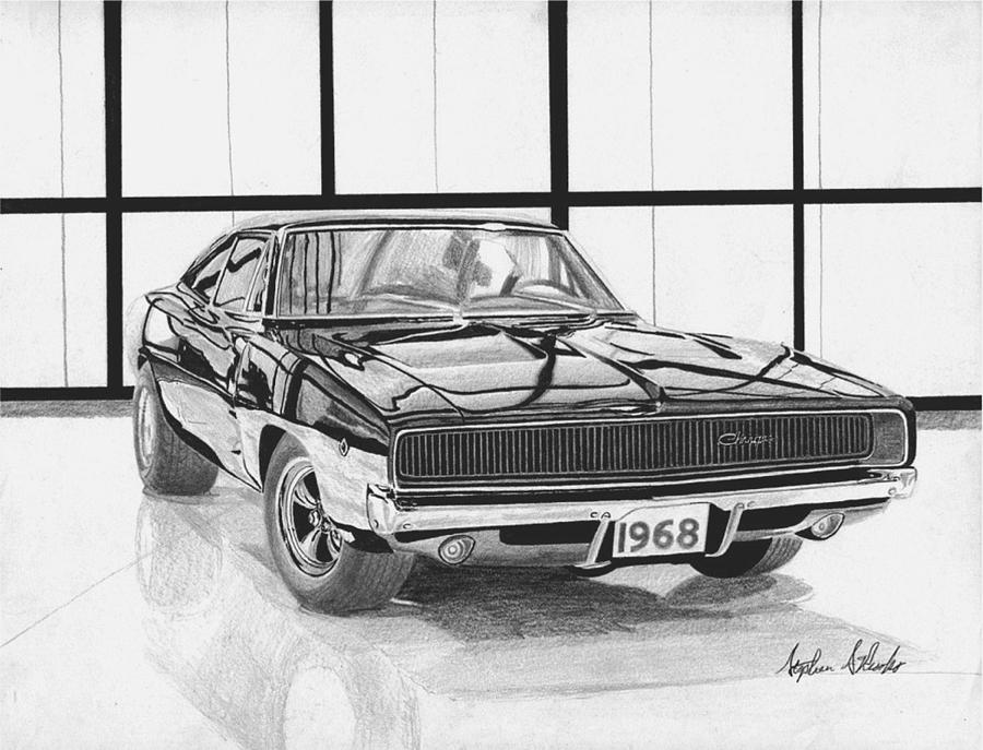 American Muscle Car Mobile Wallpaper Hd 1968 Dodge Charger Muscle Car Art Print Mixed Media By