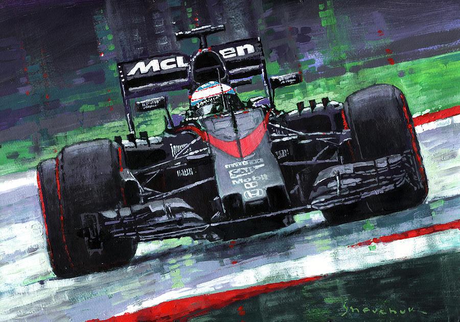 Inside Iphone X Wallpaper 2015 Mclaren Honda F1 Austrian Gp Alonso Painting By Yuriy