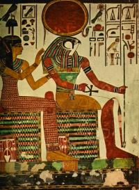 Ancient - Egyptian Wall Paintings 1956, Horus Painting by ...