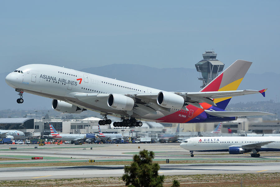 Airbus Iphone Wallpaper Asiana Airbus A380 800 Hl7626 Los Angeles International