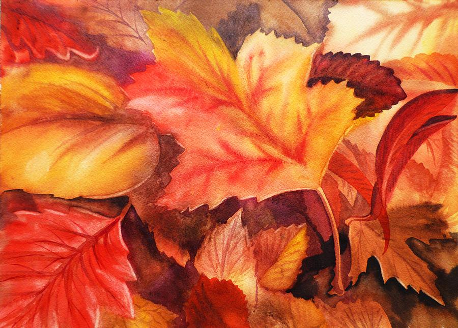 Falling Leaves Wallpaper For Iphone Autumn Leaves Painting By Irina Sztukowski
