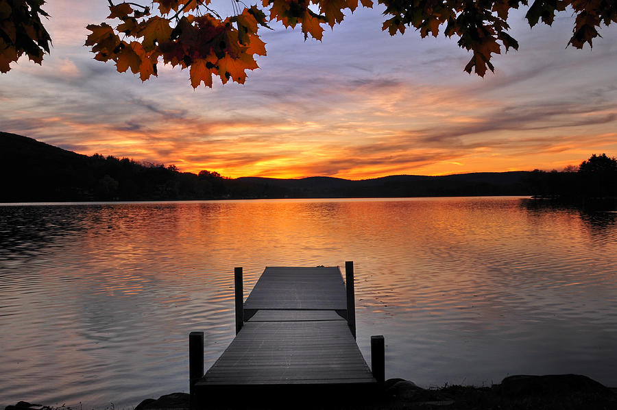 New England Fall Phone Wallpaper Autumn Sunset Photograph By Expressive Landscapes Fine Art