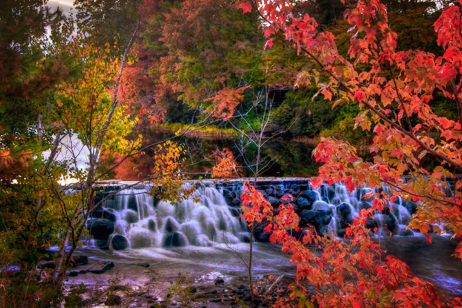 Vermont Wallpaper Fall Autumn Waterfall New England Fall Foliage Photograph By