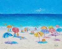 Beach Art - First Day Of Summer Painting by Jan Matson