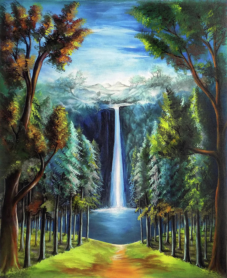 Serene Wallpapers Large Fall Beautiful Scenery 3 Drawing By Arun Sivaprasad