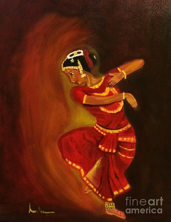 Alwar Girl Wallpaper Bharatnatyam Dancer Painting By Brindha Naveen