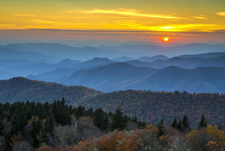 Beautiful Fall Paintings Wallpapers Blue Ridge Parkway Sunset For The Love Of Autumn