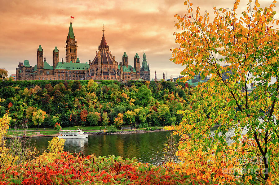 Fall Iphone Wallpaper Hd Canadian Parliament Hill In Autumn Photograph By Charline Xia
