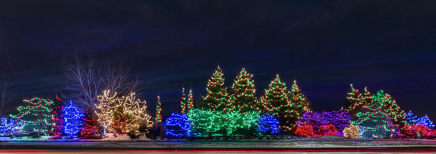 Christmas Lights Panorama Photograph By Patti Deters