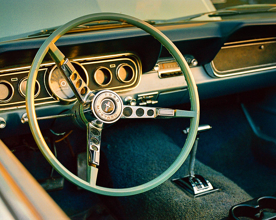 Classic Muscle Car Mobile Wallpaper Classic Mustang Steering Wheel Photograph By Jon Woodhams