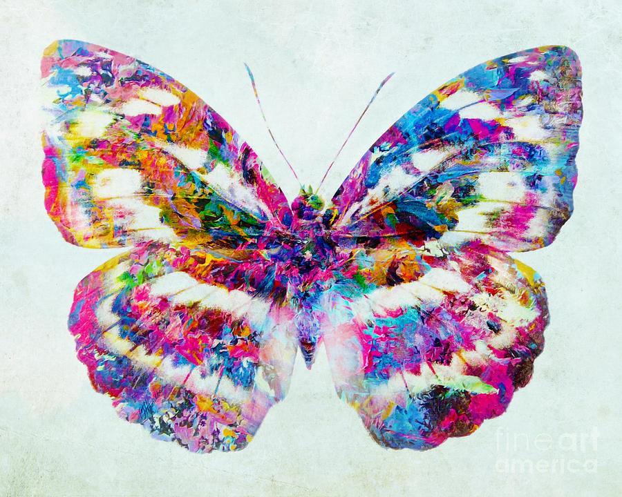 Animal Print Pink Wallpaper Colorful Butterfly Art Mixed Media By Olga Hamilton