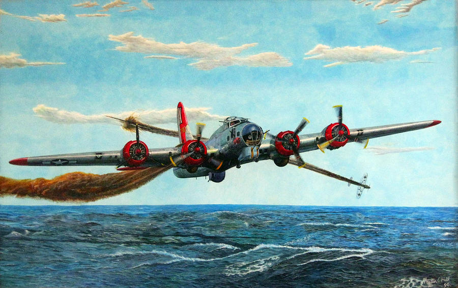 Chargers Iphone Wallpaper Coming Home Boeing B 17 Flying Fortress V2 Painting By