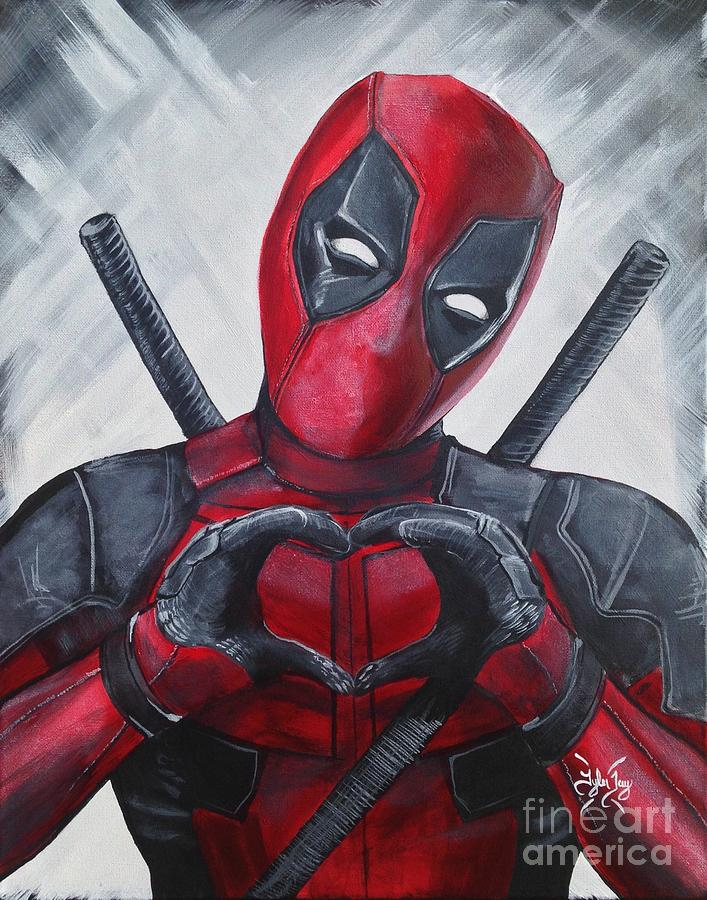 Wolverine Hd Wallpapers Deadpool Love Painting By Tyler Haddox