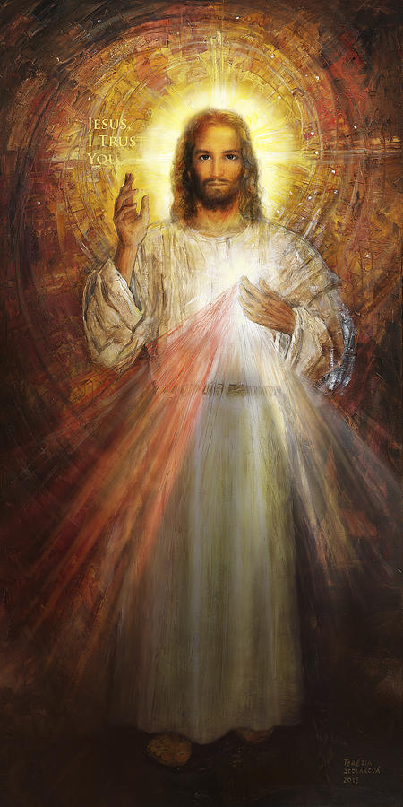 John Wall Iphone Wallpaper Divine Mercy Sacred Heart Of Jesus 1 Painting By Terezia