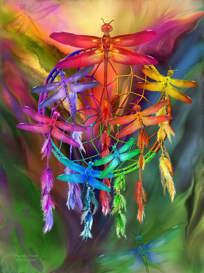 Native American Wallpaper Iphone Dragonfly Dreams Mixed Media By Carol Cavalaris